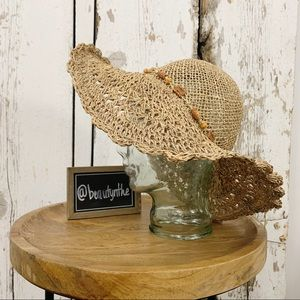 Accessories - Packable natural fiber woven floppy beach hat